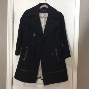 Via spiga black pea coat